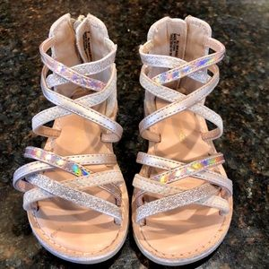 Other - Toddler sparkly tan gladiator sandals shoes